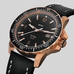 Coming Soon  to kickstarter, register your interest today on bernwatch.com   42mm Solid Bronze Case, powered by Miyota 8215 japanese Automatic movement, 300m/1000ft Dive depth, unidirectional clicking bezel with Swiss X1-Grade GL-C3 Superluminova on indexes, hands and aluminium bezel insert. Anti Reflective coated Sapphire Crystal.  Top Spec Bern, Watch Brands, Omega Watch, Sapphire, Men's Fashion, Bronze, Hands, Japanese, Watches