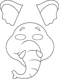 Printable Animal Masks: Elephant Mask Printable Elephant Masks ...