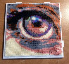 Eye hama mini beads by piazobel