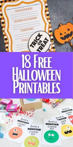Whether you are staying in or going out, these free Halloween printables are perfect for your celebrations this year! #freeprintables #halloween #halloweenparty Craft Projects For Adults, Easy Craft Projects, Diy Projects Videos, Craft Videos, Outdoor Halloween, Halloween Crafts, Halloween Party, Homemade Halloween, Craft Room Decor