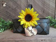 Custom Flower Girl Basket - Venue and reception decor (*Amazon Partner-Link)