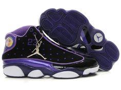 87dee03b8452d Air Jordan 13 Women Color Shoes Black Purple