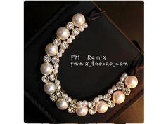 Hot Design Crystal Pearl Weave Bubble Bib Choker Statement Charm Joker Necklace