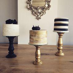 Trio of wedding cakes by The Birdcage, Stellenbosch
