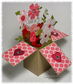The Serene Stamper: Card in a Box Valentine