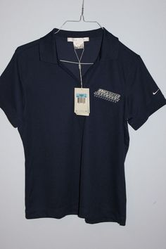 Nike Shirt Womens Medium,New with Tags, Nike Fit Dry,Navy Blue,Casual,Golf,M  #Nike #PoloShirt #Casual