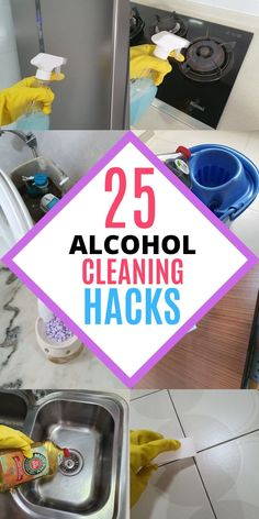Rubbing alcohol is an awesome cleaning product for every home! It has plenty of household uses when it comes to cleaning and disinfecting. It can be used to disinfect your toilet seat, door knob and remove sticky residues in the bathroom. Here are 25 amazing ways to use rubbing alcohol at home, read the blog to learn all the cleaning tips and tricks! #homewhis #cleaninghacks #cleaningtips #cleaningideas #rubbingalcohol #rubbingalcoholuses Cleaning Recipes, Diy Cleaning Products, Cleaning Hacks, Cleaning Spray, Bathroom Cleaning, Rubbing Alcohol Uses, Remove Sticky Residue, Clean Window Blinds, Door Knob