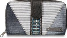 Dakine FAYE Womens Pocketbook/Checkbook Wallet Railroad Stripe NEW #Dakine #Clutch