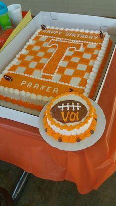 Tennessee football smash cake and birthday cake