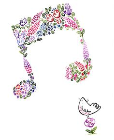 big notes by Wetpaint Design & Illustration, Tattoo Musica, Music Notes Art, Music Pictures, Wedding Art, Piano Music, Music Lovers, My Flower, Art For Kids, Musicals