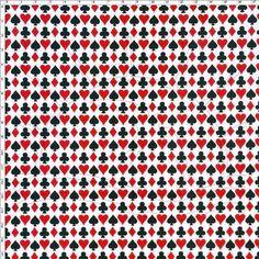 Tecido Estampado para Patchwork - Naipe Preto/Vermelho 100% Algodão - 50cm de comprimento - 1,40m de largura Cada unidade refere-se a um pedaço de 50cm de comprimento por 1,40m de largura. Para adquirir 1 metro, selecione 2 unidades. Fabricante: Corrente