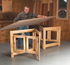 Hinged Frames Give Broad-Based Support - Woodworking Shop - American Woodworker