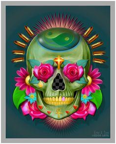 SKULL - Green Skull by *Eccoton on deviantART