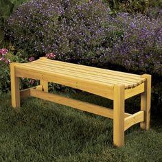 garden bench woodworking plan