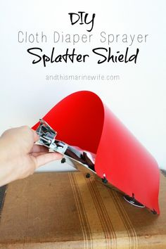 DIY Cloth Diaper Sprayer Splatter Shield - Want less mess for a better price? Make your own cloth diaper sprayer splatter shield, using my DIY tutorial! You can save over half the price of a commercially-made diaper sprayer splatter shield and get more use out of it! Click ahead to see how your can make your own: http://andthismarinewife.com/2015/06/diy-cloth-diaper-sprayer-splatter-shield.html Baby Momma, Couches, Baby Gear, Diy Diapers, Reusable Diapers, Diy Tutorial, Hippie Baby, Cloth Nappies, Natural Baby