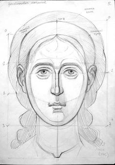 How To Drow, Jesus Drawings, Byzantine Icons, Woman Drawing, Orthodox Icons, Ikon, Anatomy, Pencil, Faces