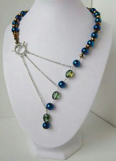 Mother's Day Gift Ideas : Peacock Blue, Green and Gold Adrienne Adelle Signature Necklace Design Copyright. - Mother's Day Gift Ideas : Peacock Blue, Green and Gold Adrienne Adelle Signature Necklace Desi - Beaded Jewelry, Handmade Jewelry, Jewelry Necklaces, Necklace Ideas, Diy Necklace Chain, Necklace Set, Beaded Earrings, Gold Jewelry, Unique Necklaces