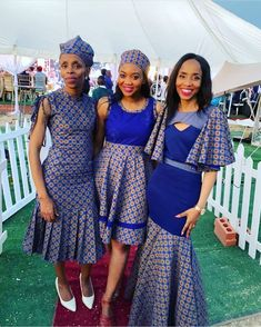Shweshwe dresses 2020 is the most perfect style to wear this season. Fabrics like the Shweshwe dresses 2020 from South Africa can be your best fashion pieces. Short African Dresses, Latest African Fashion Dresses, African Print Fashion, Setswana Traditional Dresses, South African Traditional Dresses, African Wedding Attire, African Attire, Seshweshwe Dresses, Wedding Dresses