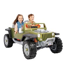 "Power Wheels Fisher-Price Monster Traction Jeep Hurricane - Green - Power Wheels - Toys ""R"" Us Christmas for boys"