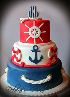 Sailing themed cake ~ Delana's Cakes