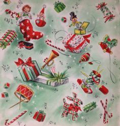 Vtg Christmas Wrapping Paper Hallmark Toys Jack in Box New Old Stock Gift Wrap | eBay