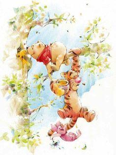 37 ideas quotes winnie the pooh eeyore Cute Winnie The Pooh, Winne The Pooh, Winnie The Pooh Quotes, Winnie The Pooh Friends, Eeyore Quotes, Art Disney, Disney Kunst, Lilo Et Stitch, Photo Images