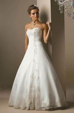 Belle Robe de mariée sans bretelle