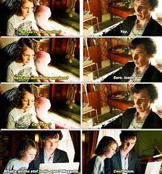 Sherlock's new BFF --- can't wait to see what he does with Mary and John's kid!