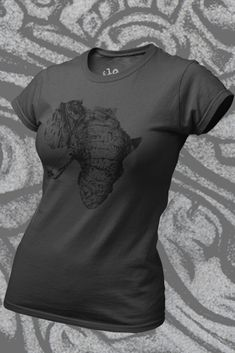Tlou Organic t shirt (Womens) Organic Cotton T Shirts, African Elephant, Looks Great, Shirt Designs, T Shirts For Women, Printed, Tees, Mens Tops, Collection