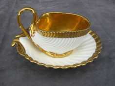 Swan handle cup and saucer Paris