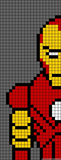 Iron Man perler bead pattern