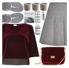 """""""Velvet ostentations"""" by floralandmay ❤ liked on Polyvore featuring River Island, T By Alexander Wang, Havaianas, Patagonia, Davines and velvet"""