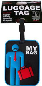 Moustache Man luggage tag
