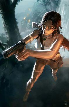 Lara Croft by Pierre Loyvet