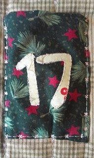 Quilted Christmas Advent Calendar pocket