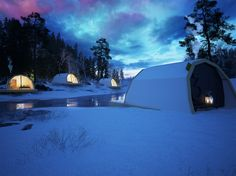 Glamping Finland winter