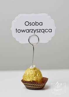 Papeteria szyta na miarę: Winietki na szpilce, winietki na druciku 18 Birthday, Wedding Decorations, Wedding Day, Wedding Inspiration, Place Card Holders, Invitations, Impreza, Sweet, Party