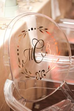 Add a fun touch to your wedding chairs by using decals!