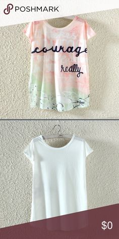 COMING SOON! Such an adorable short sleeve tshirt. Pretty print on the front and a white back. Tops Tees - Short Sleeve