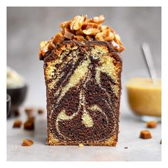 Un Cake, Cake & Co, Cake Bars, Pate A Cake, Caramel A Sec, Chocolate Marble Cake, Blog Patisserie, Sweet Cooking, Muffins