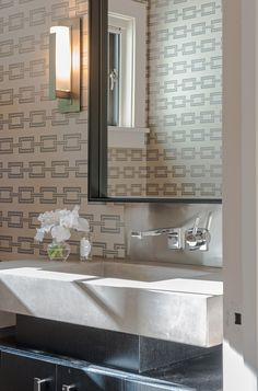 Brooks & Falotico - Award winning residential architecture and design firm. Bathroom Cabinet Organization, Contemporary Bathrooms, Residential Architecture, Design Firms, Building A House, New Homes, Vanity, Mirror, Modern
