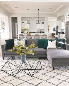 The Cosmos Sectional featured in 's aesthetically pleasing open concept living room. Boho Living Room, Apartment Living, Home And Living, Living Room Decor, Living Room Without Rug, Living Room Modern, Bedroom Decor, Interior Design Living Room, Living Room Designs