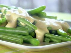 Green Beans with Cheese Sauce recipe from Trisha Yearwood via Food Network