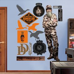 duck dynasty wall decals | Si Robertson - Duck Dynasty - Entertainment