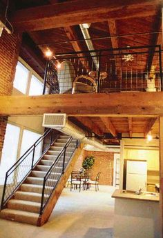 Oooh this loft and those exposed beams= aerialist dream house