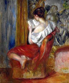 La Liseuse - Reading Woman Pierre-Auguste Renoir (Impressionist, Oil on canvas. Renoir enjoyed depicting his friends and lovers with expressive. Art Gallery, Art Works, Fine Art, Renoir Paintings, Woman Reading, Painting, Reading Art, Renoir Art, Art