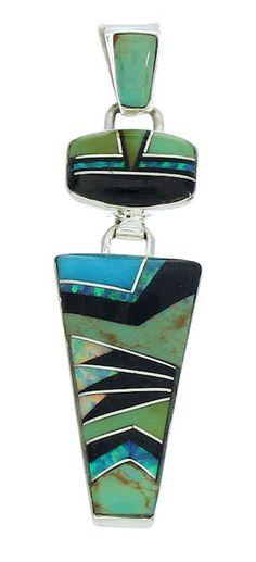 Genuine Sterling Silver Jewelry Multicolor Slide Pendant BW74265 http://www.silvertribe.com