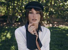Model Lily Aldridge in a La Ligne shirt, $195, lalignenyc.com.