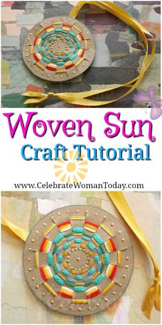 Woven Sun Pendant Craft Tutorial For Every Season And Reason #HeartThis