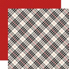 Carta Bella Christmas Delivery Black and Cream Plaid